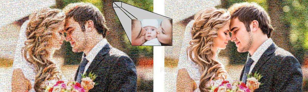 fotomosaik-teilmosaik-zur-hochzeit