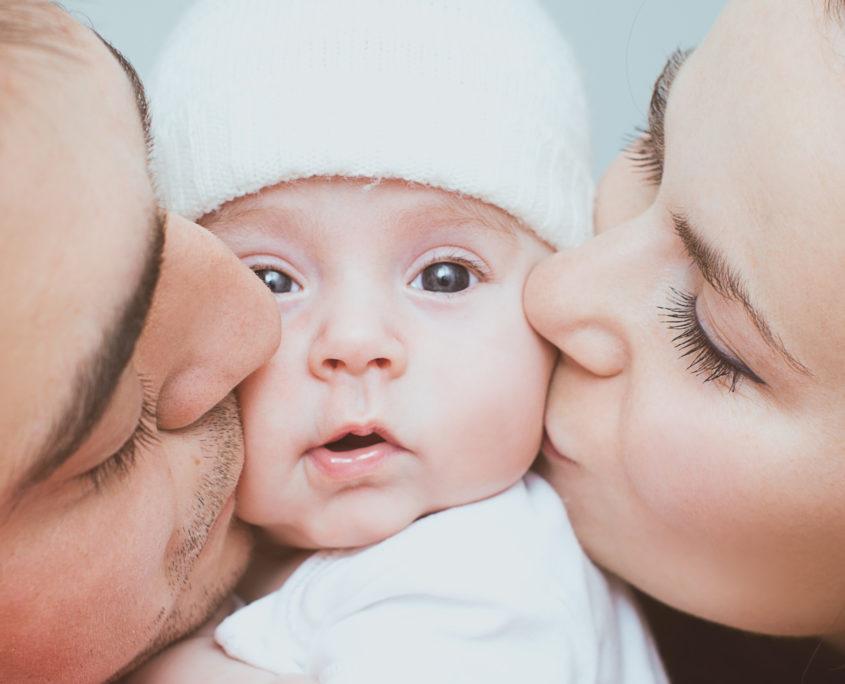 Originalbild Baby mit Eltern