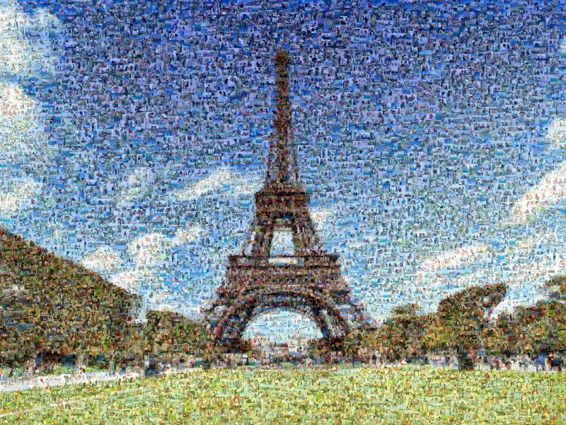 Foto Mosaik Farbanpassung gesenkt