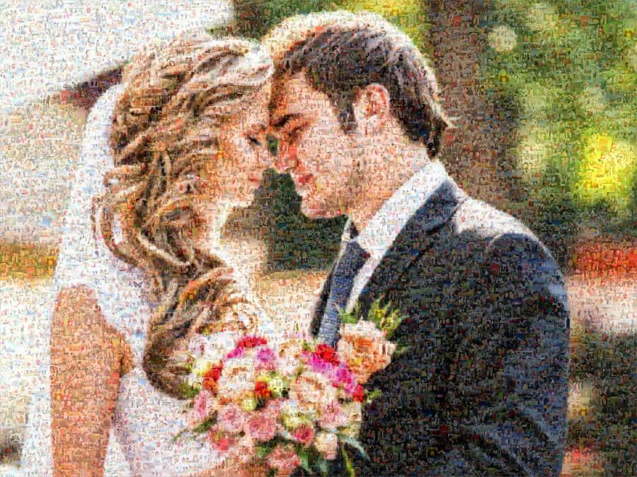 Fotomosaik Brautpaar