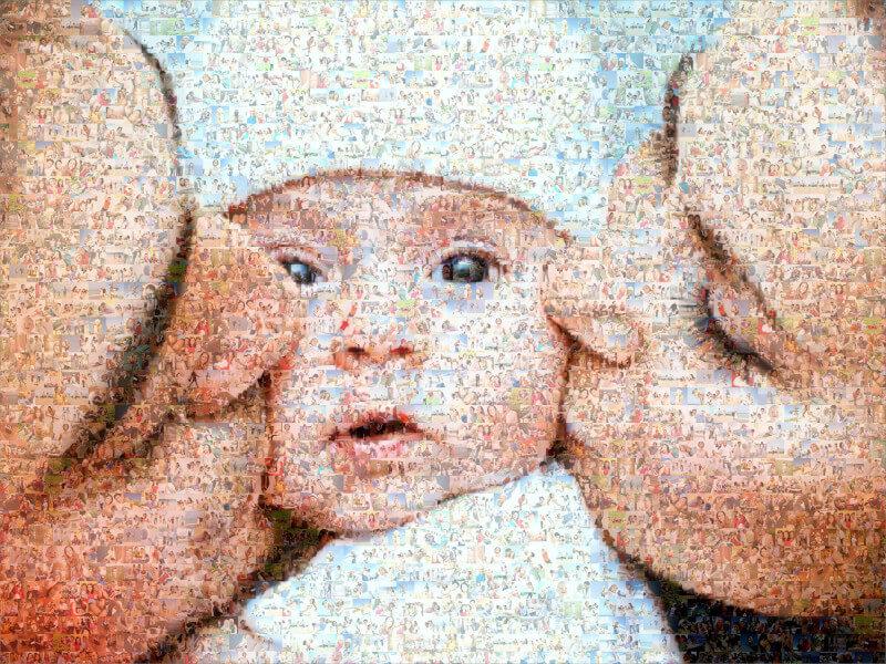 Fotomosaik mit Eltern