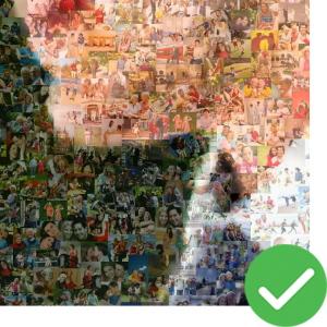real photo mosaic