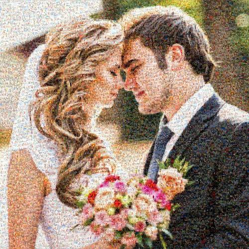 easy photo mosaic as wedding present